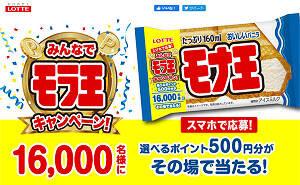 「選べるポイント500円分」が16,000名様