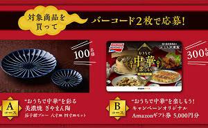 「美濃焼 ぎやまん陶」「Amazonギフト券 5,000円」