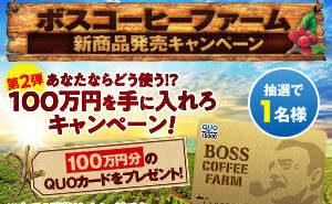 「QUOカード 100万円分」