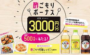 酢ごもりボーナス(JCBギフトカード3000円)